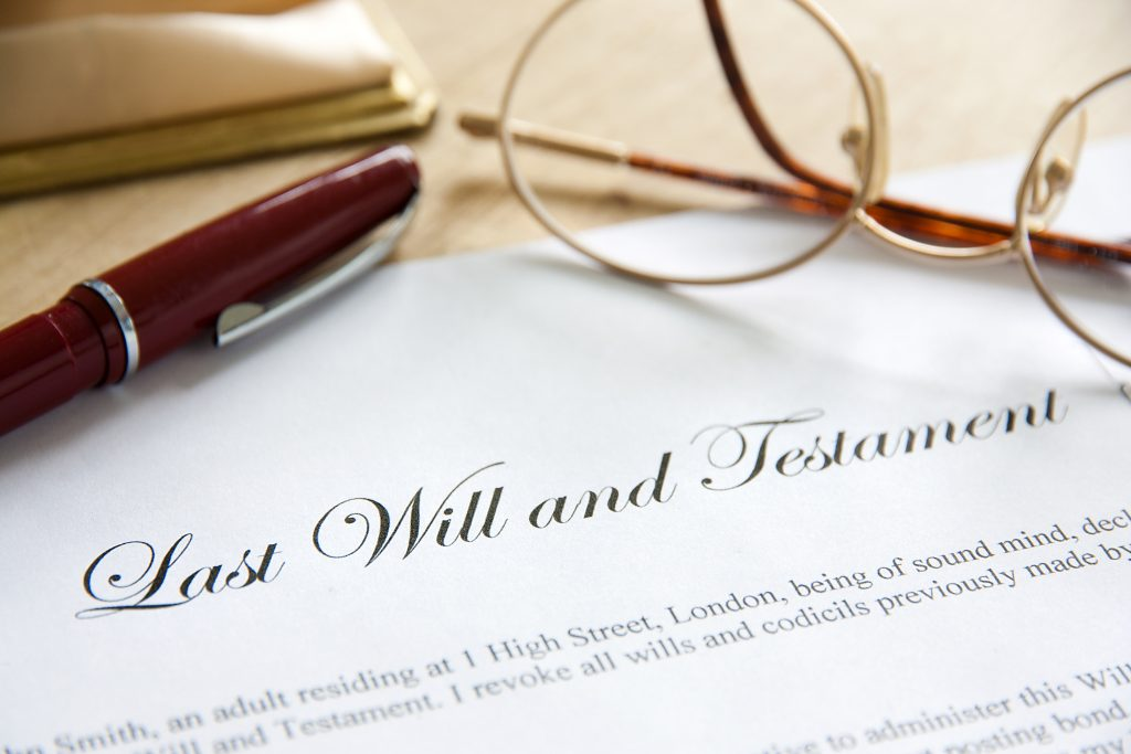 probate law attorney going over Last Will and Testament